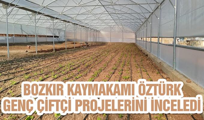Konya Haber: Konya Bozkır Kaymakamı Öztürk, Genç Çiftçi projelerini inceledi