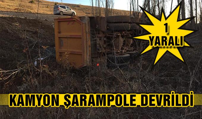 Konya Haber: Konya'da kamyon şarampole devrildi: 1 yaralı