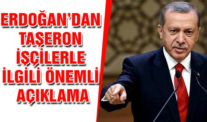 Erdoğan'dan taşeron işçilerle ilgili önemli açıklama Cumhurbaşkanı Tayyip Erdoğan kamudaki taşeron işçileriyle ilgili düzenleme hakkında konuştu.