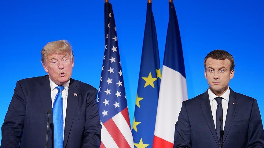 Macron ve Trump Kudüs'ü görüştü