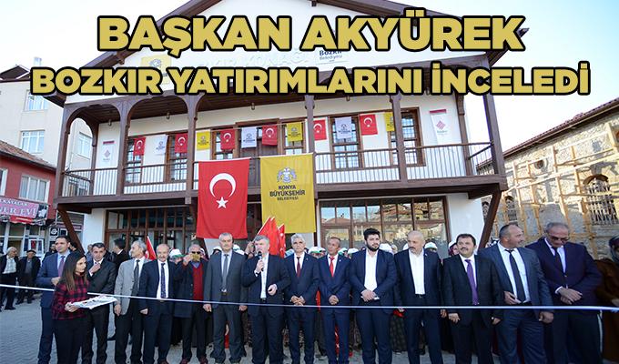Konya Haber: Başkan Akyürek, Bozkır yatırımlarını inceledi