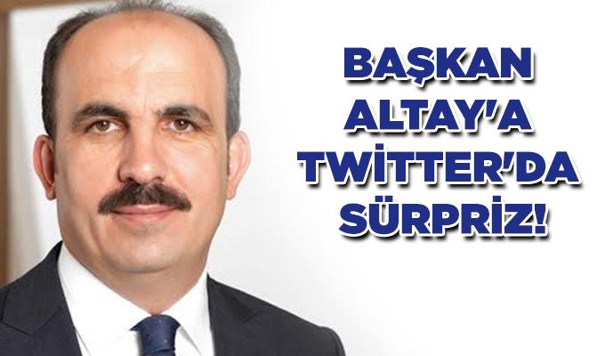 Konya Haber: Başkan Altay'a twitter'da sürpriz!