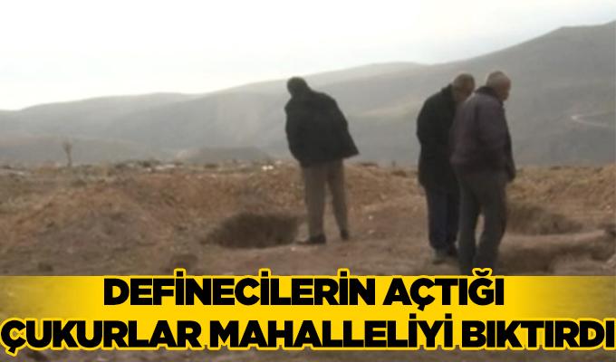 Konya Haber: Konya'da definecilerin açtığı çukurlar mahalleliyi bıktırdı