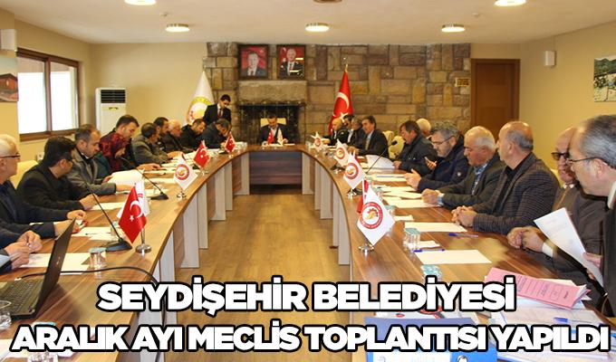 Konya Haber: Seydişehir Belediyesi aralık ayı meclis toplantısı yapıldı