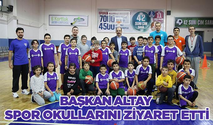 Konya Haber: Başkan Altay spor okullarını ziyaret etti
