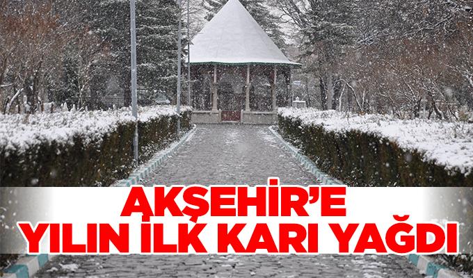 Konya Haber: Konya Akşehir'e yılın ilk karı yağdı