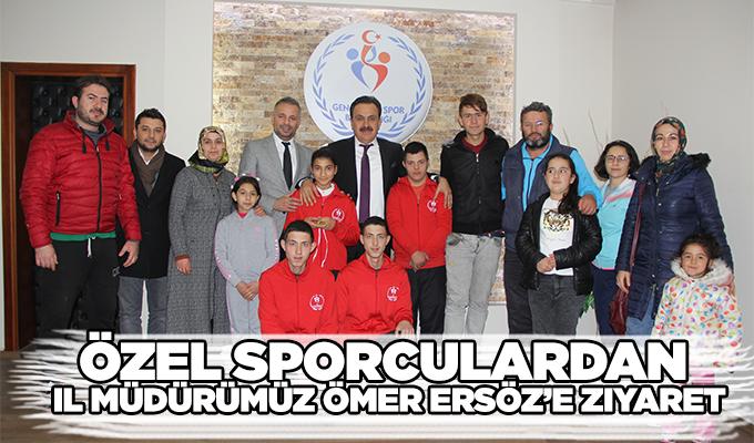 Konya Haber: Konya Haber: Özel Sporculardan İl Müdürümüz Ömer Ersöz'e ziyaret