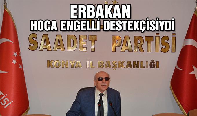 Konya Haber: Erbakan Hoca Engelli Destekçisiydi