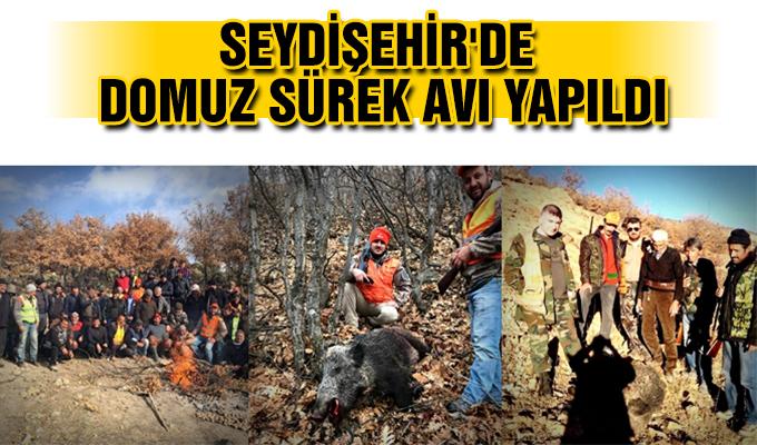 Konya Haber: Konya Seydişehir'de domuz sürek avı yapıldı