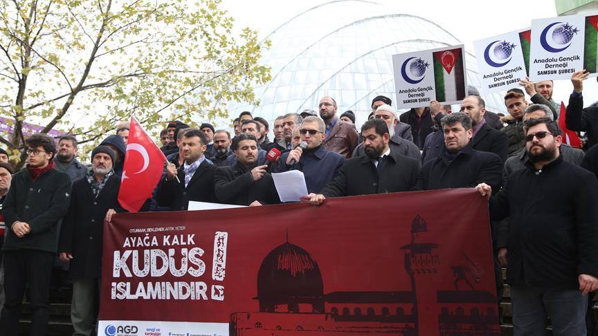 Yurt genelinde ABD'nin Kudüs kararına karşı gösteriler düzenlendi