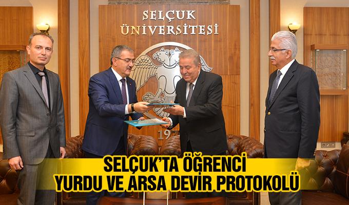 Konya Haber: Selçuk'ta Öğrenci Yurdu ve Arsa Devir Protokolü
