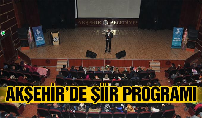 Konya Haber: Konya Akşehir'de şiir programı