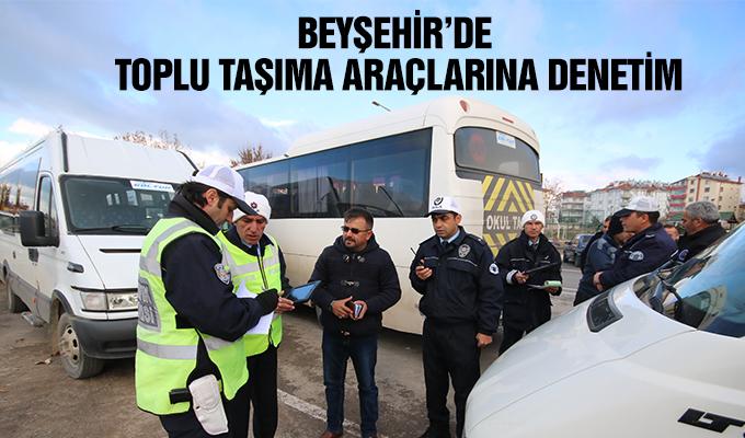 Konya Haber: Konya Beyşehir'de toplu taşıma araçlarına denetim