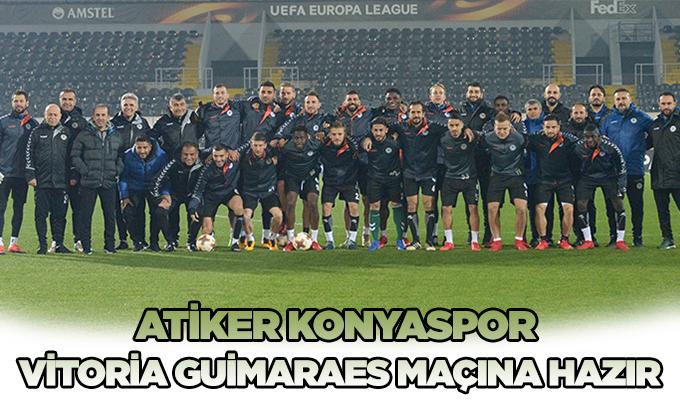 Atiker Konyaspor, Vitoria Guimaraes maçına hazır