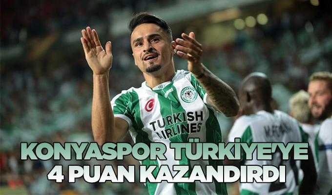 Konyaspor, Türkiye'ye 4 puan kazandırdı