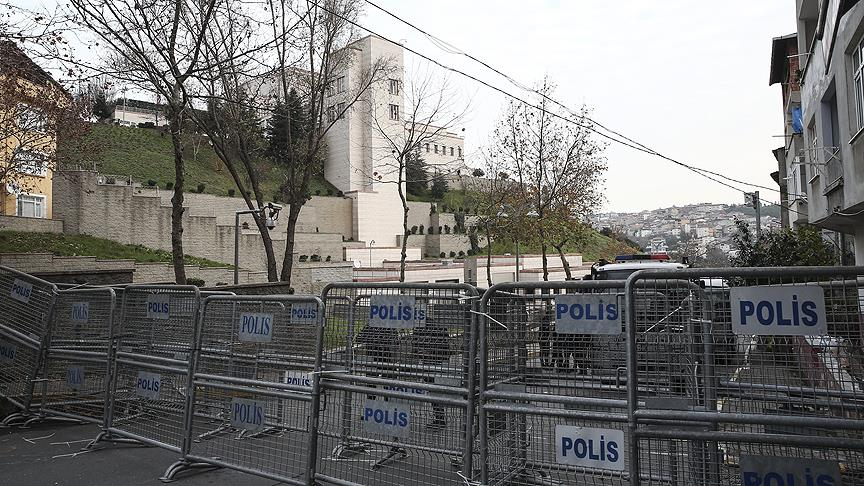 ABD'nin İstanbul Başkonsolosluğu önünde güvenlik önlemleri alındı