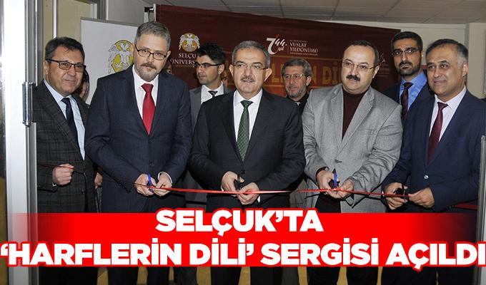 Konya Selçuk'ta 'Harflerin Dili' Sergisi açıldı