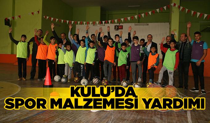 Konya Kulu'da spor malzemesi yardımı