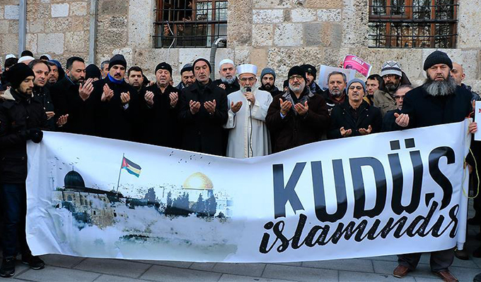 Konya Haber: ABD'nin Kudüs kararı yurt genelinde protesto ediliyor