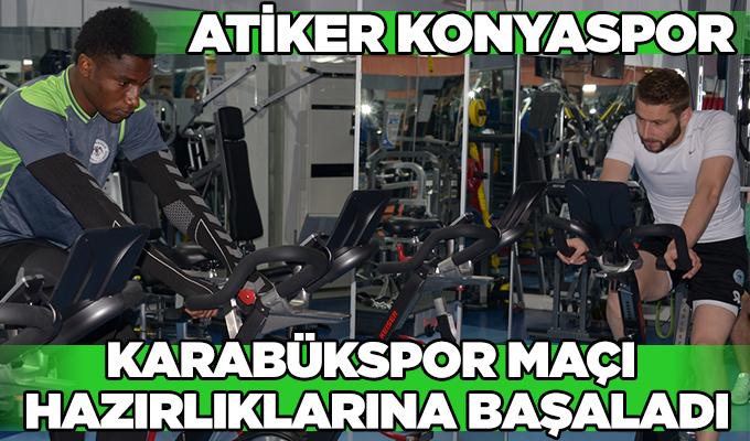 Atiker Konyaspor, Karabükspor maçı hazırlıklarına ara vermeden başladı