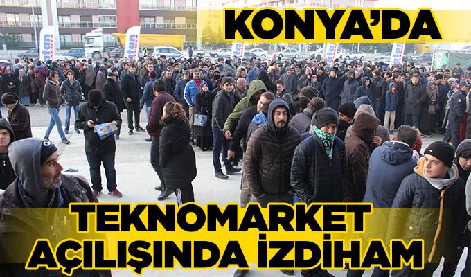 Konya Haber: Konya'da teknomarket açılışında izdiham