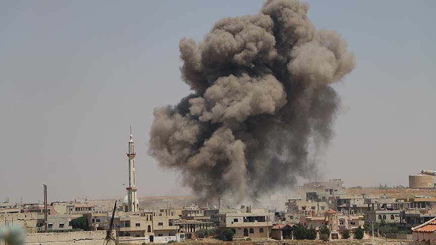 Esed rejimi varil bombasıyla can almayı sürdürüyor