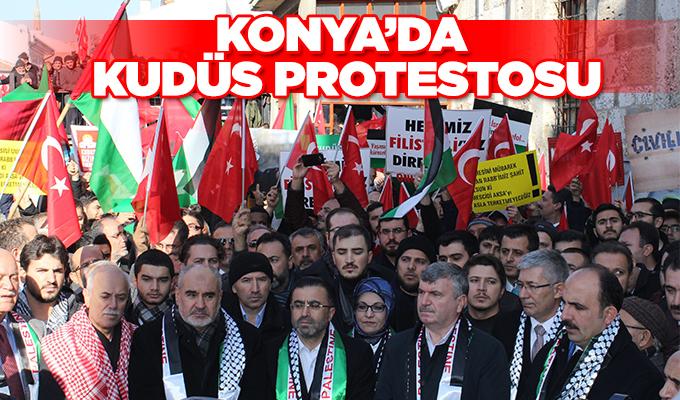 Konya Haber: Konya'da Kudüs protestosu