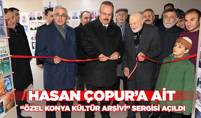 """Konya Haber: Hasan Çopur'a ait """"Özel Konya Kültür Arşivi"""" Sergisi Açıldı."""