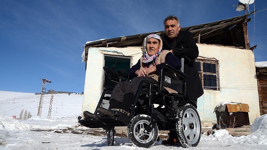 72 yaşındaki engelli kadının hayali gerçek oldu