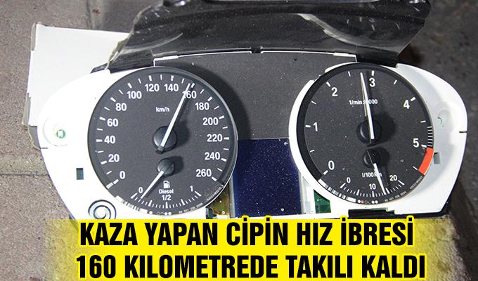 Konya Haber: Kaza yapan cipin hız ibresi 160 kilometrede takılı kaldı