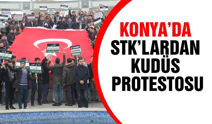 Konya Haber: Konya'da STK'lardan Kudüs protestosu
