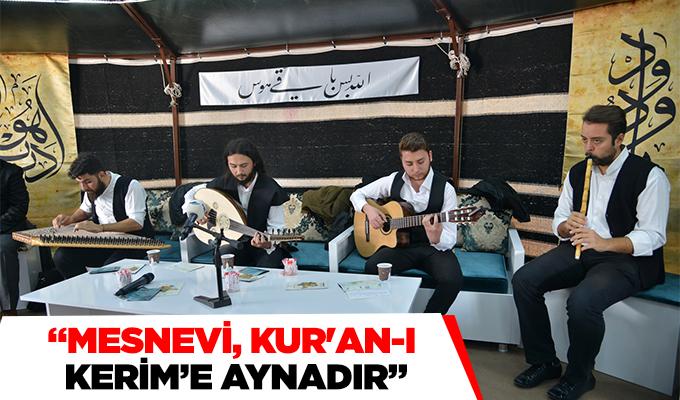 """Konya Haber: """"Mesnevi Kur'an-ı Kerim'e aynadır"""""""