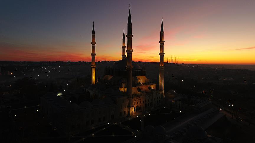 Selimiye'de gün doğumu