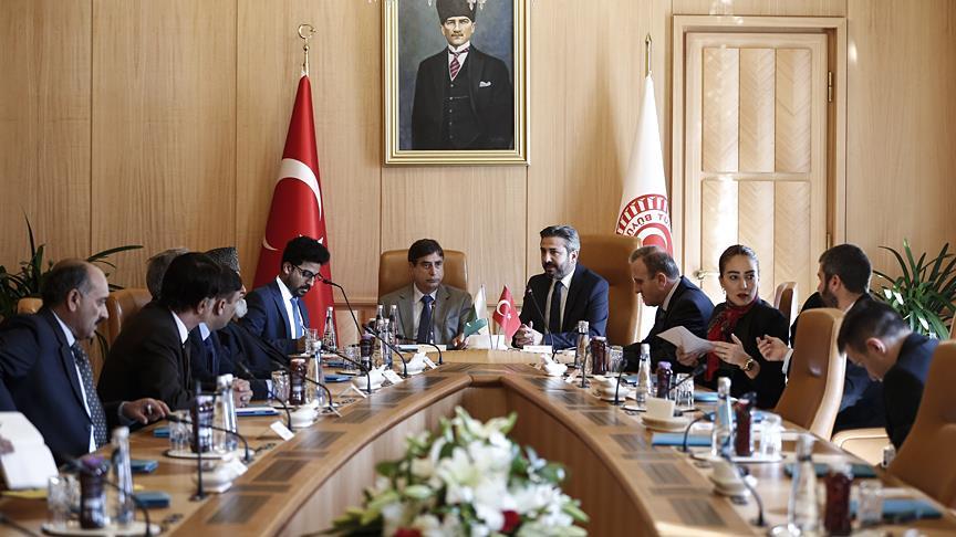 Pakistan Azad Keşmir Parlamento heyetinden TBMM'ye ziyaret