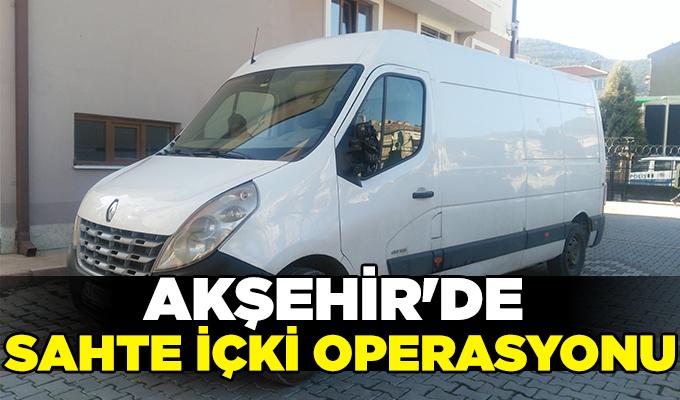 Konya Haber: Konya Akşehir'de sahte içki operasyonu