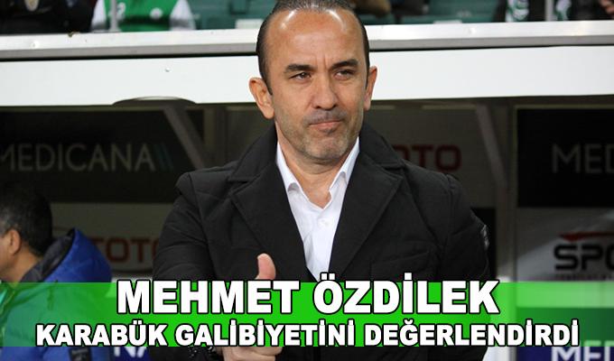 Mehmet Özdilek, Karabük galibiyetini değerlendirdi