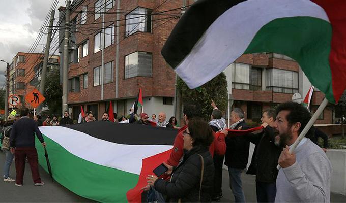 ABD'nin Kudüs kararı Kolombiya'da protesto edildi