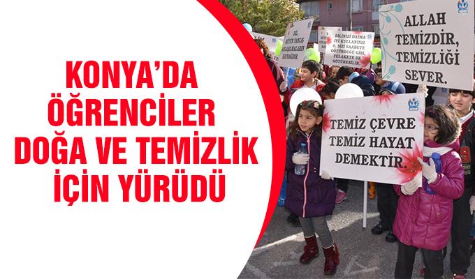 Konya Haber: Konya'da öğrenciler doğa ve temizlik için yürüdü