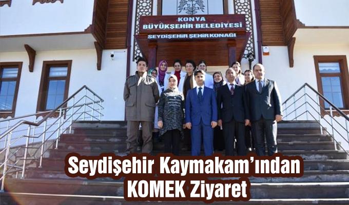 Konya Haber: Kaymakam Erdoğan'dan Ziyaret