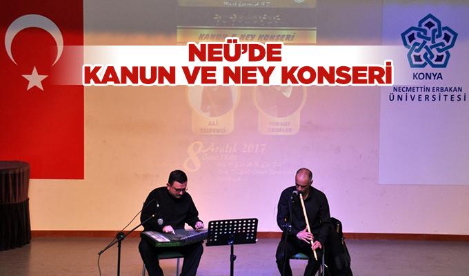 Konya NEÜ'de kanun ve ney konseri