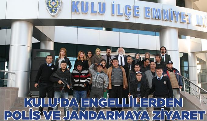Konya Kulu'da engellilerden polis ve jandarmaya ziyaret