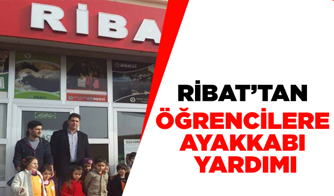 Ribat'tan öğrencilere ayakkabı yardımı