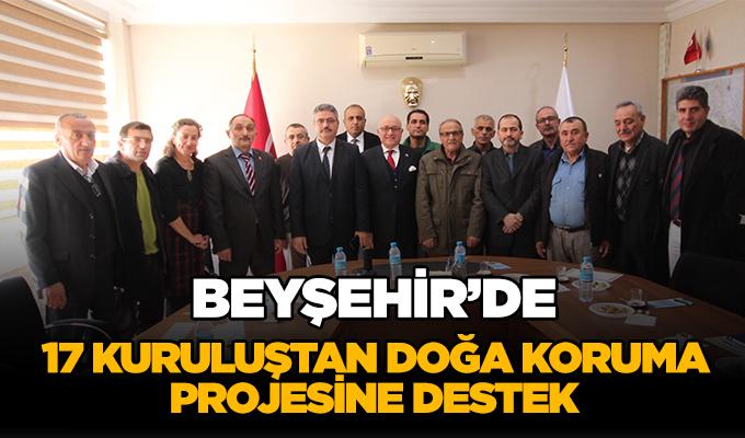 Konya Haber: Konya Beyşehir'de, 17 kuruluştan doğa koruma projesine destek