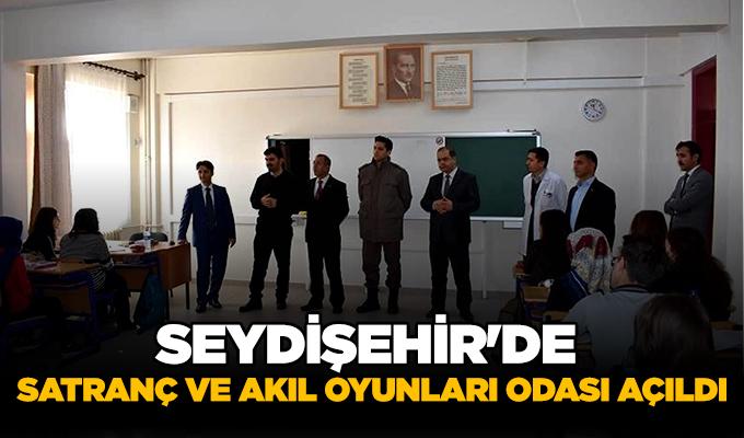 Konya Haber: Konya Seydişehir'de satranç ve akıl oyunları odası açıldı