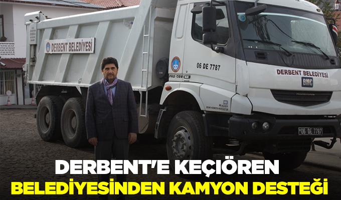 Konya Haber: Derbent'e Keçiören Belediyesinden kamyon desteği