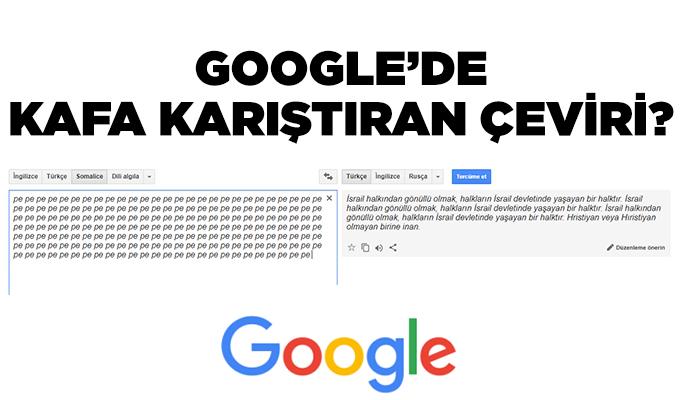 Google'de Kafa Karıştıracan Çeviri?