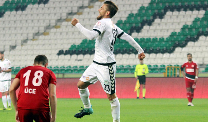 İsmail Güven, Konyaspor kariyerinde ilk golünü attı