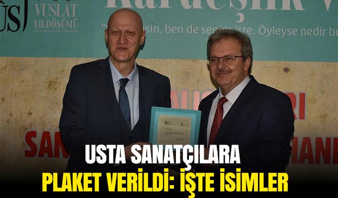 Konya'da Usta sanatçılara plaket verildi: İŞTE İSİMLER