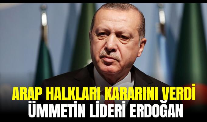 Arap halkları kararını verdi: Ümmetin lideri Erdoğan'dır!