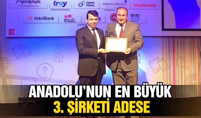Anadolu'nun En Büyük 3. Şirketi Adese!